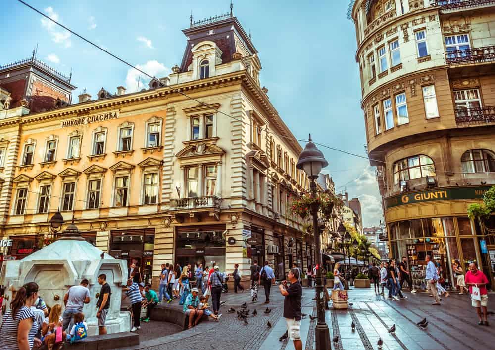 Knez Mihailova Caddesi Belgrad
