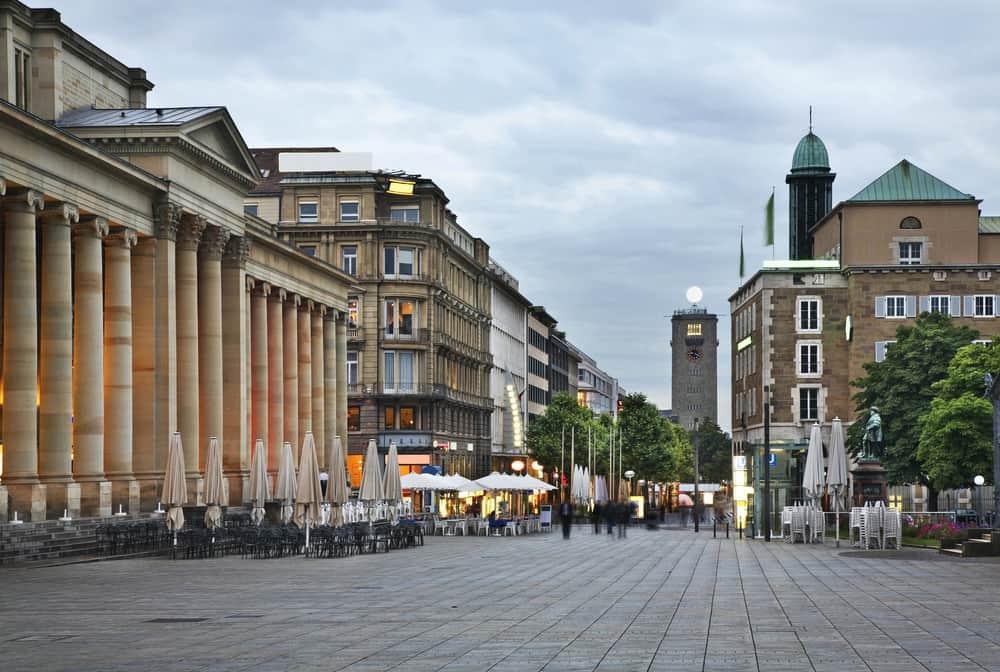 Kral Caddesi (Konigstrasse) Stuttgart Almanya
