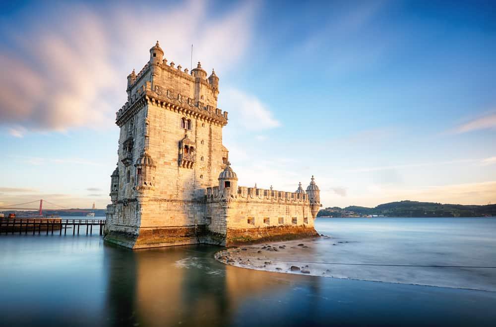Lizbon, Belem Kulesi - Tagus Nehri, Portekiz