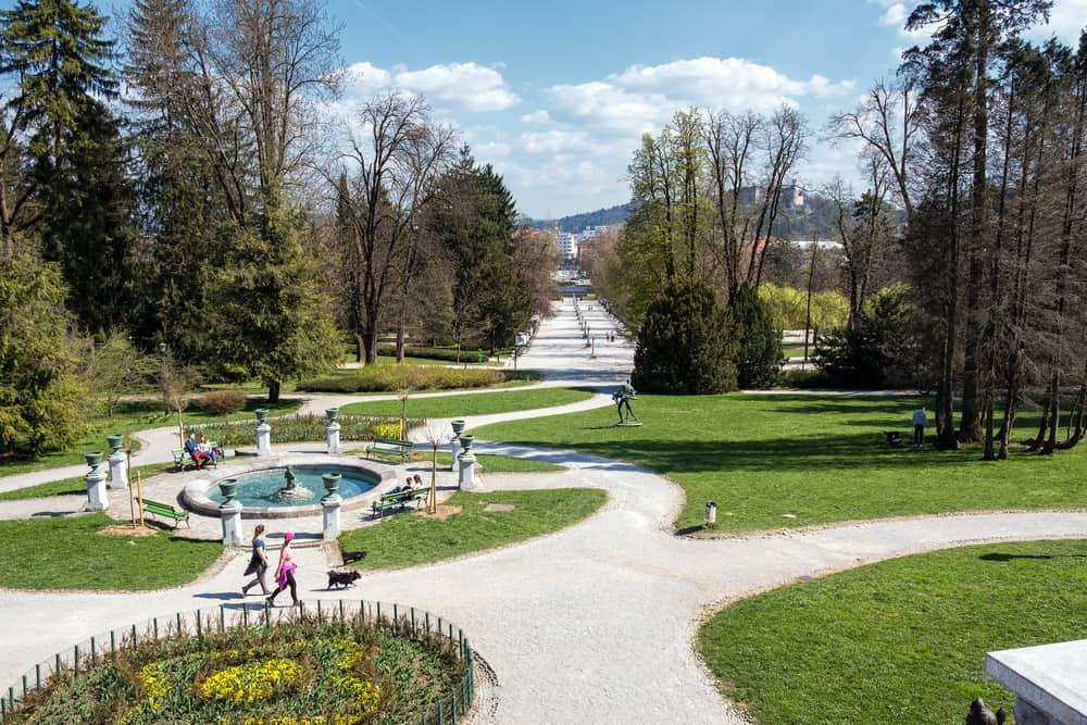 Ljubljana Tivoli Parkı Slovenya