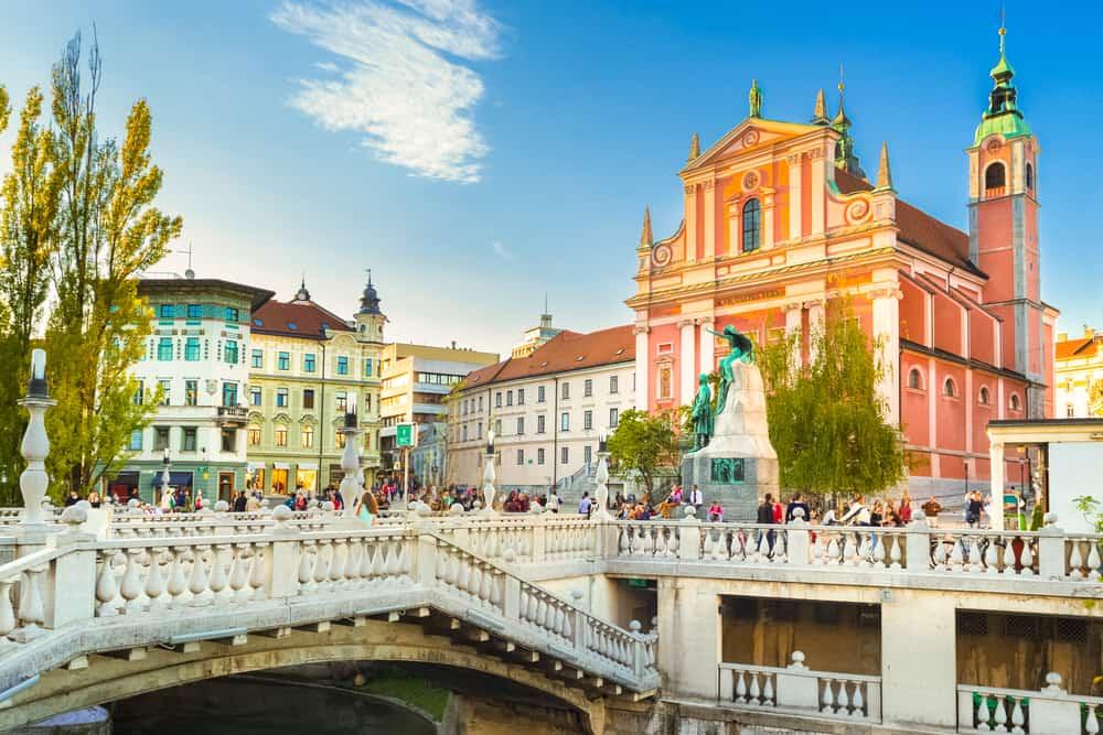 Preseren Meydanı Ljubljana Slovenya