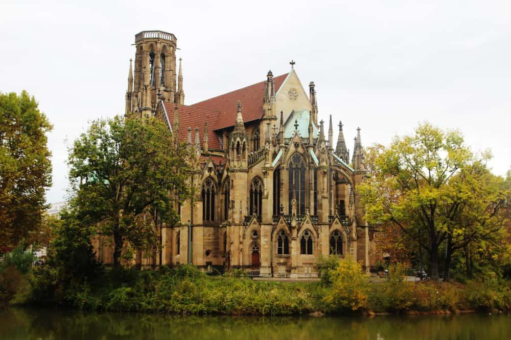 St. John Kilisesi (Johanneskirche) Stuttgart Almanya