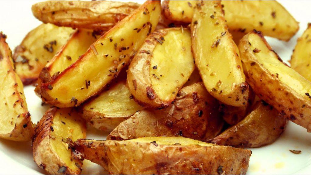 Fırında Baharatlı Patates Kızartması