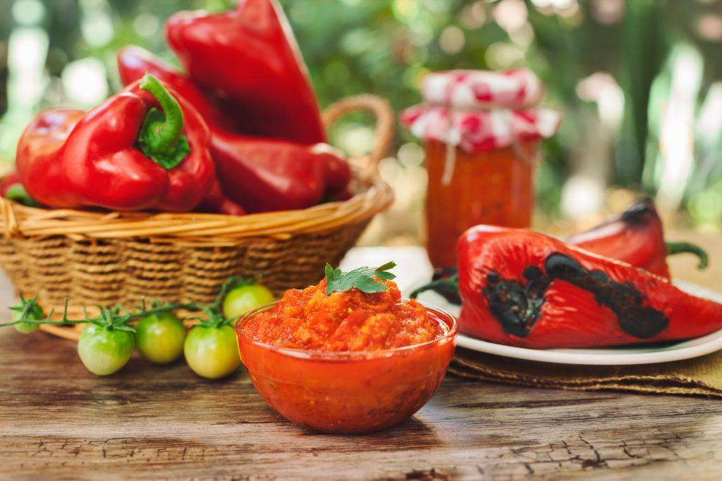 Ajvar, Balkan Patlıcan & Biber Sosu