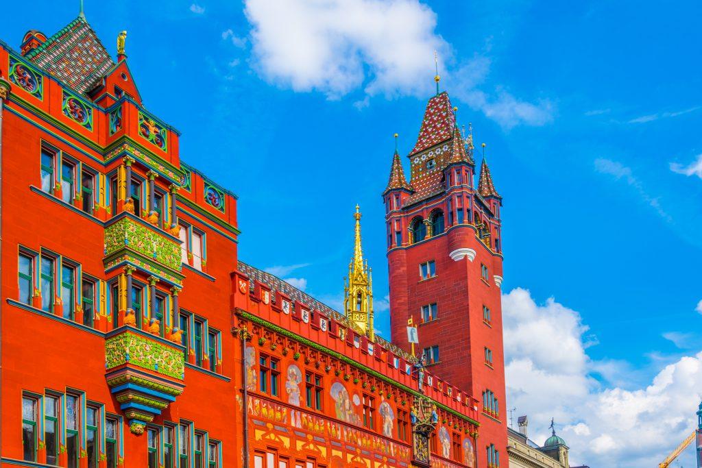 Rathaus, Basel, İsviçre