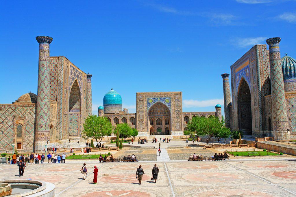 Registan Meydanı, Semerkant, Özbekistan