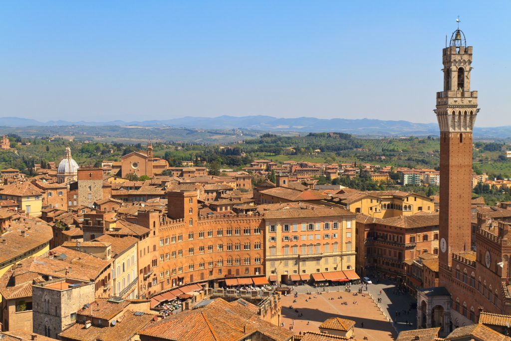 Torre del Mangia (Mangia Kulesi), Siena, İtalya