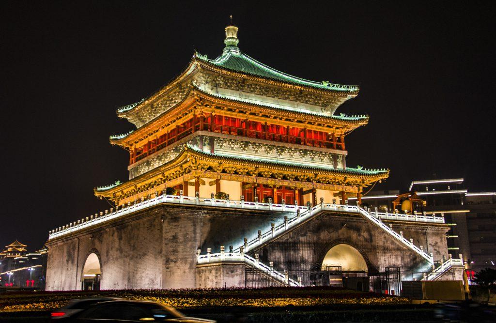 Zil Kulesi ve Davul Kulesi, Xian, Çin