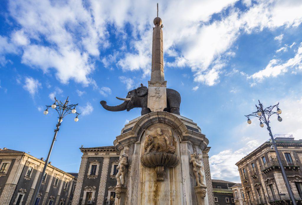 Fontana dell' Elefante, Catania, Sicilya