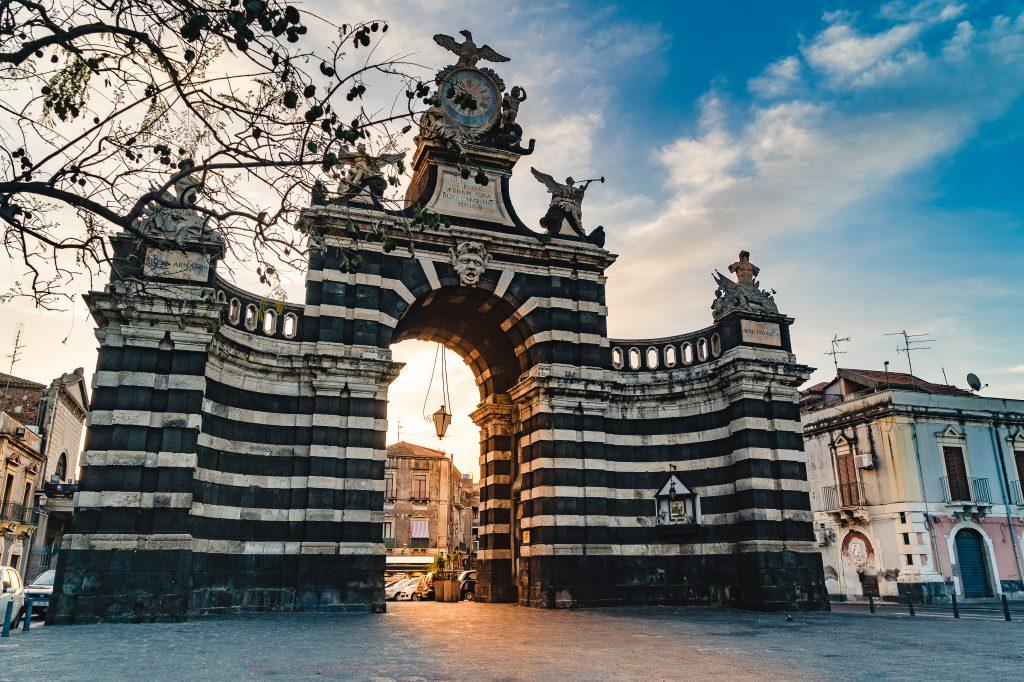Porta Garibaldi, Catania, Sicilya