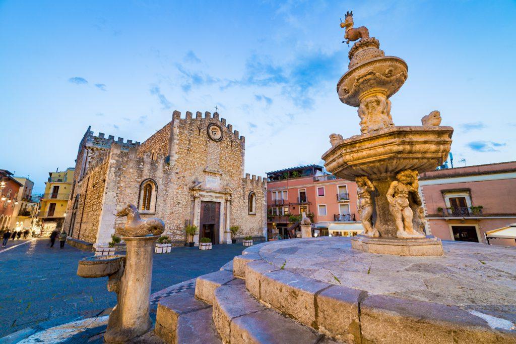 Aziz Nikolaos Kilisesi- Duomo Taormina-Aziz Nikola Kilisesi, Taormina, Sicilya