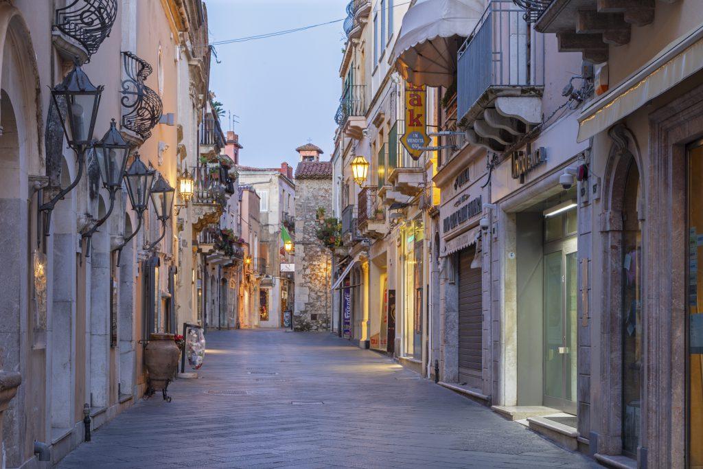 Umberto Caddesi, Taormina, Sicilya