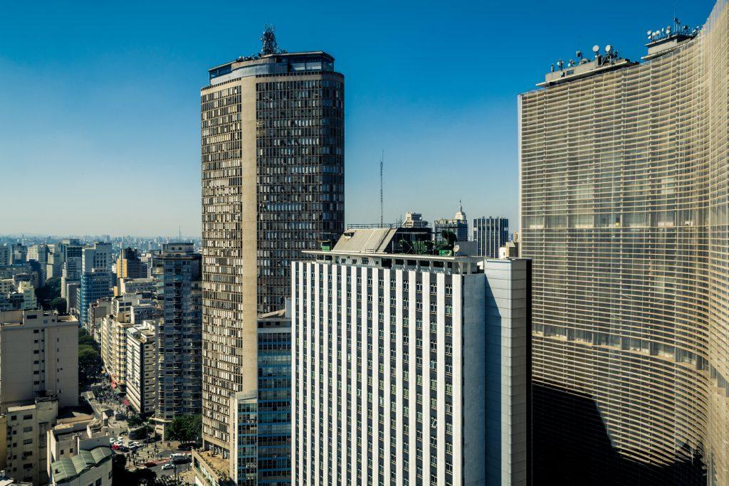 Edificio Copan ve Edificio Italia, Sao Paulo, Brezilya